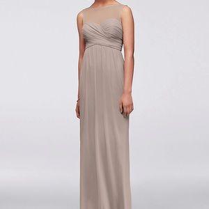 David's Bridal bridesmaid gown sleeveless F15927